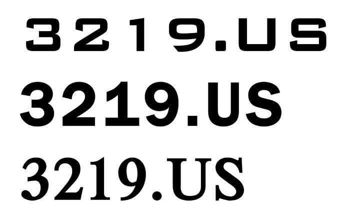 3219_Font_Test