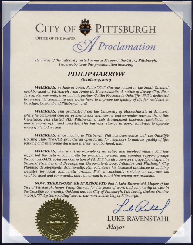 Phil Garrow Proclamation